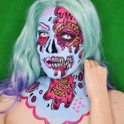 ice cream pop art zombie